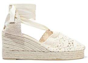 Castaner Carina Crocheted Wedge Espadrilles
