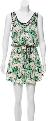 Veronica Beard Printed Silk Dress