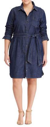 Lauren Ralph Lauren Plus Denim Shirtdress