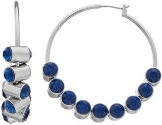 Vera Wang Simply Vera Blue Simulated Crystal Hoop Earrings