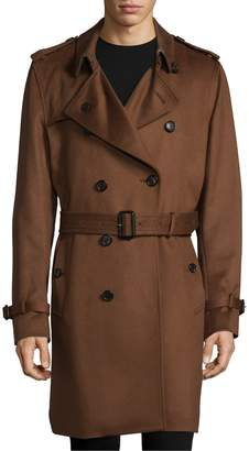 Burberry Men's Cashmere Trench Coat
