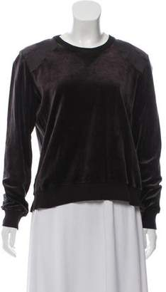Sonia Rykiel Long Sleeve Velvet Top