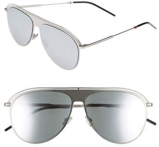 Christian Dior 59mm Polarized Aviator Sunglasses