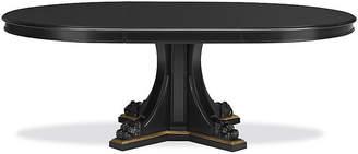 Ralph Lauren Home Empire Pedestal Table - Black Ebony