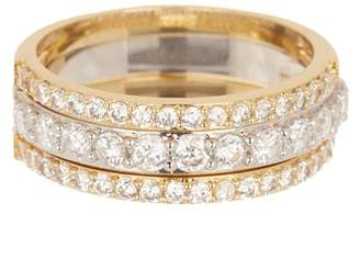 Covet Stackable Crystal Pave Band Rings - Set of 3