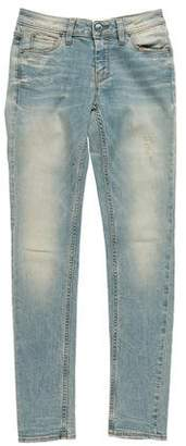 IRO Distressed Mid-Rise Jeans