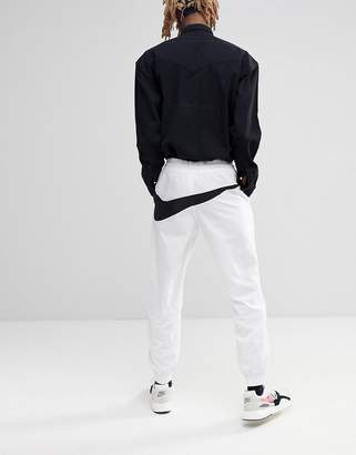 Nike Vaporwave Joggers With Large Swoosh In White AJ2300-100