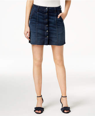 Rhys Button-Front Denim Skirt