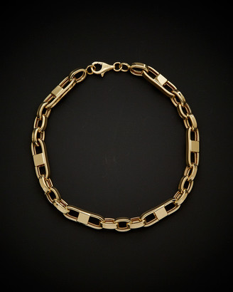14K Italian Gold Fancy Mariner Bracelet