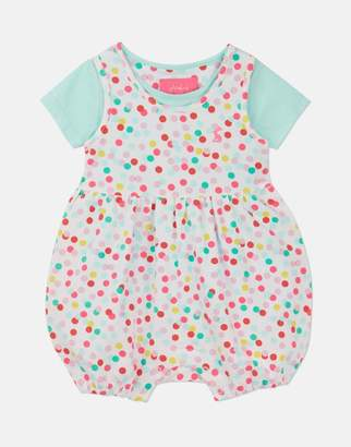 Joules White Multi Spot Dolly Jersey Romper And T-Shirt Set Size 3M-6M