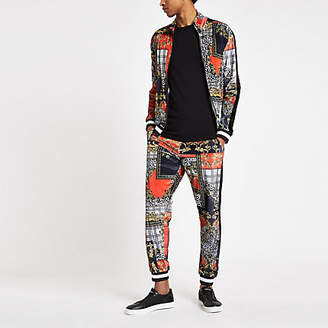 River Island Jaded London red baroque joggers