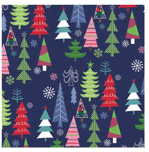 Modern Holiday Trees Wrapping Paper