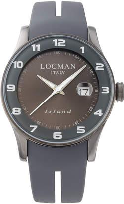 Locman (ロックマン) - LOCMAN ラウンドウォッチ デイト表示 ケース:グレー ベルト:グレー