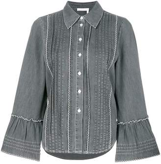 See by Chloe pleated denim shirt