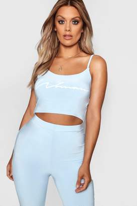boohoo Woman Double Slinky Crop Top