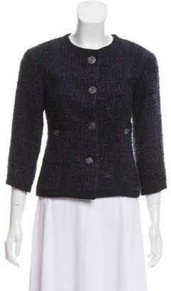 Chanel Tweed Collarless Jacket