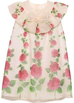 Gucci Kids Children's Rose Garden print silk dress