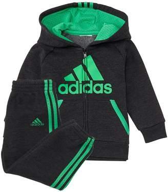 adidas Toddler Boy 2-pc. Mesh Hooded Zip Jacket & Pants Set