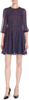 Derek Lam Zebra Print Fit & Flare Dress