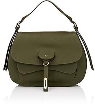Fontana Milano 1915 Women's Wight Medium Leather Saddle Bag - Olive
