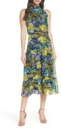 Sam Edelman Tropics Chiffon Midi Dress