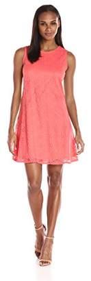 Tiana B Women's Sleeveless Lace Trapeze Dress
