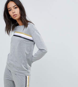 Noisy May Tall Stripe Front Sweatshirt
