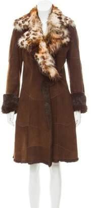 Fur-Lined Shearling Coat