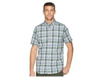 Nautica Short Sleeve Poplin Plaid Woven Shirt