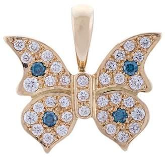 Eyefunny diamond butterfly pendant