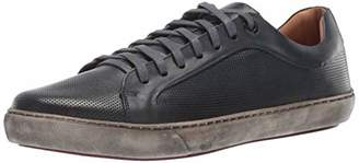 Driver Club USA Mens Genuine Leather Made in Brazil San Francisco Sneaker Grainy/Navy White Sole