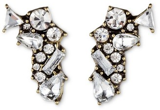 SUGARFIX by BaubleBar Shatter Crystal Stud Earrings - Clear $9.99 thestylecure.com