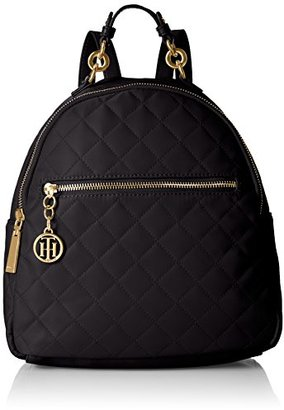 Tommy Hilfiger Isabella Quilted Nylon Backpack $74.80 thestylecure.com
