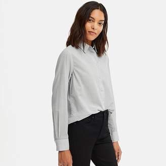Uniqlo Women's Soft Cotton Striped Long-sleeve Shirt