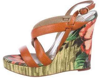 Valentino Leather Slingback Wedges