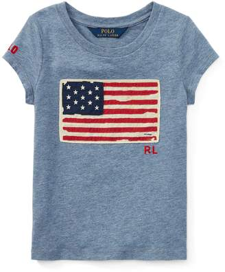 Ralph Lauren Flag Cotton Jersey T-Shirt