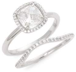 d038cf7b4 Lafonn 2-Piece Sterling Silver Simulated Diamond Ring Set
