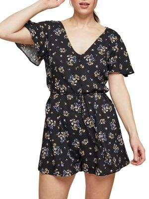 Miss Selfridge Ditsy Cluster Playsuit