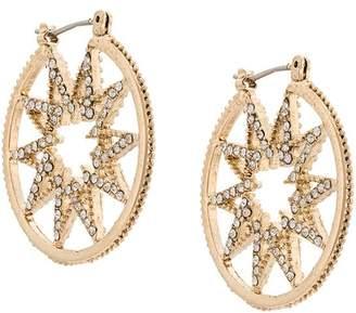 Marchesa star hoop earrings