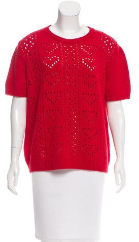Miu Miu Miu Miu Cashmere Open-Knit Top