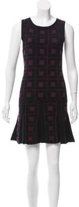 Alice + Olivia Geometric Jacquard Mini Dress