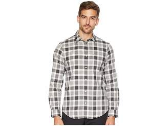 Calvin Klein Long Sleeve Straight Hem Buffalo Plaid Button Down