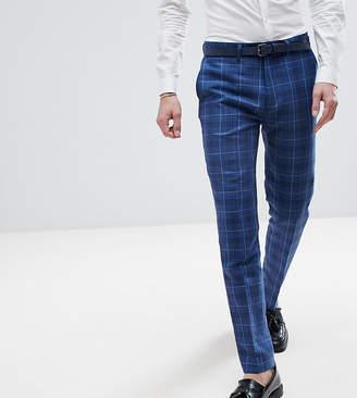 Gianni Feraud TALL Slim Fit Wedding Check Suit Pants