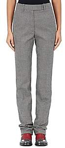 Calvin Klein Women's Houndstooth Wool Trousers-Gray