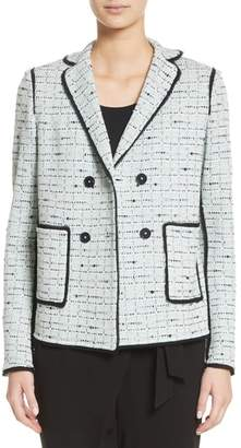 St. John Adriana Tweed Double Breasted Blazer