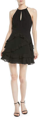 Parker Phoenix Ruffled Halter Mini Dress
