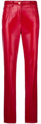 Alberta Ferretti slim fit faux-leather trousers