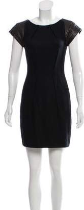 Rag & Bone Leather-Paneled Sheath Dress