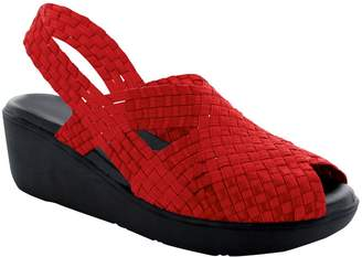 Paige Heal Peep Toe Slingback Wedge Sandals