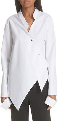 Ji Oh Asymmetrical Button Front Shirt